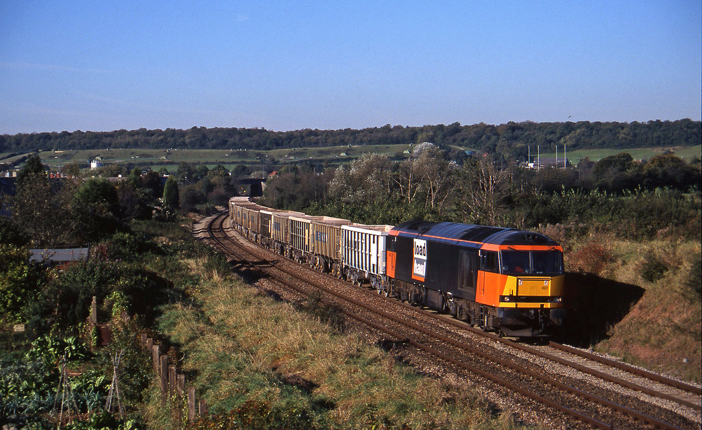 60007, up stone empties, Brentry, Bristol, 28-10-97.