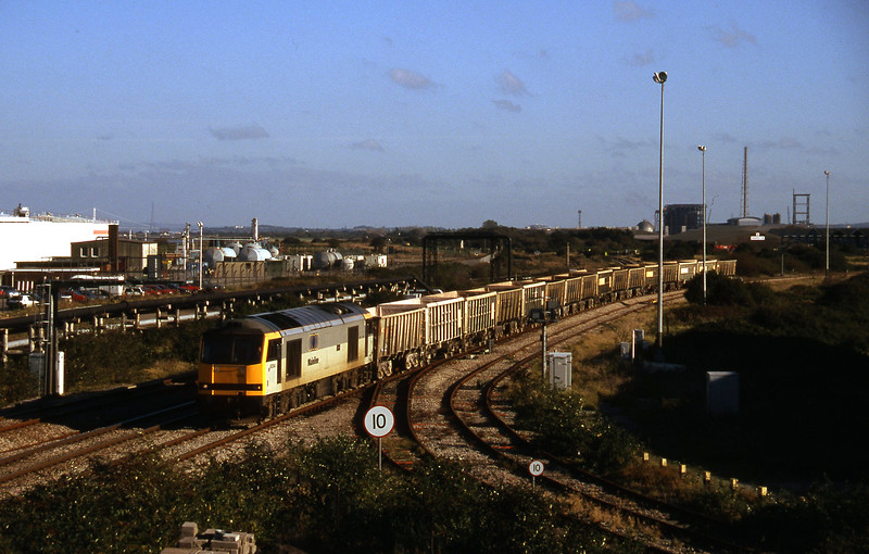 60094, running round stone empties, Hallen Marsh Junction, Avonmouth, 21-10-97.