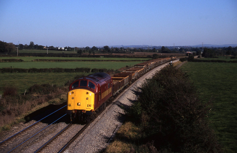 37717, 12.00 Westbury Yard-Meldon Quarry, Berkley Marsh, near Frome, 28-10-97.
