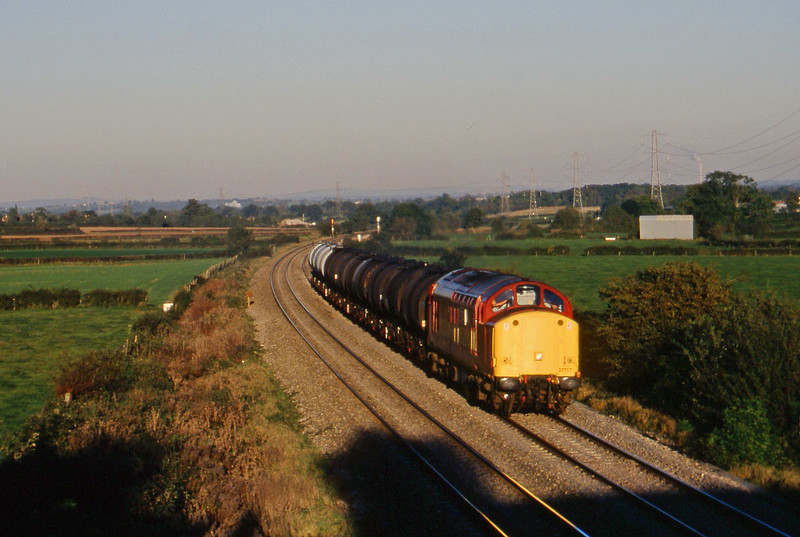 37717, 13.34 Fawley-Plymouth Tavistock Junction Yard, Berkley Marsh, near Frome, 21-10-97.