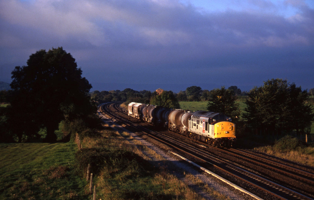 37674, 04.56 St Blazey-Newport Alexandra Dock Junction Yard,  Cogload, 2-10-97.