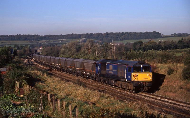 58042, 07.40 Avonmouth Bulk Handling Terminal-Didcot Power Station, Brentry, Bristol, 29-10-97.