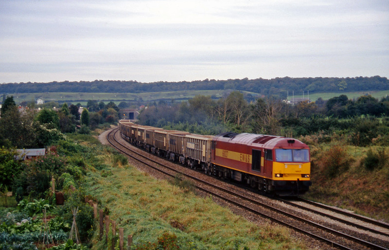 60027, up stone empties, Brentry, Bristol, 14-10-97.
