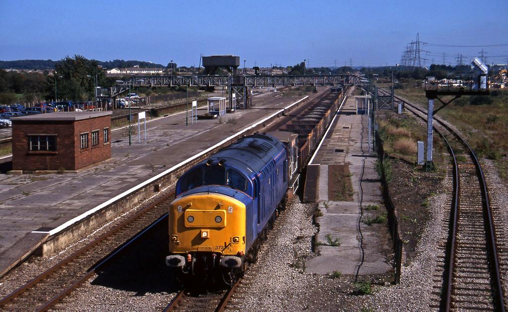 37375, 11.25 Swindon-Newport Alexandra Dock Junction, Severn Tunnel Junction, 9-9-97.