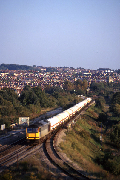 60013, 13.20 Furzebrook-Hallen Marsh, Narroways Hill Junction, Bristol, 23-9-97.