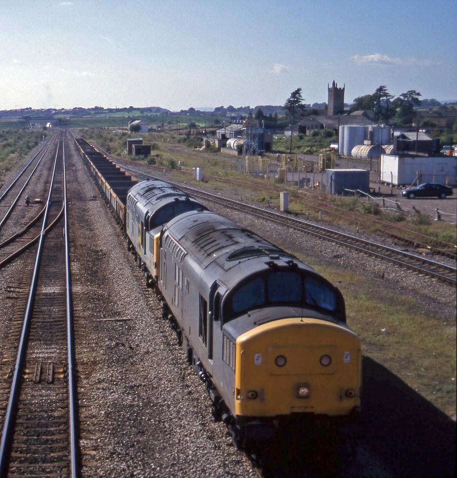 37072/37229, 14.20 Newport Alexandra Dock Junction-Stud Farm, Severn Tunnel Junction, 9-9-97.