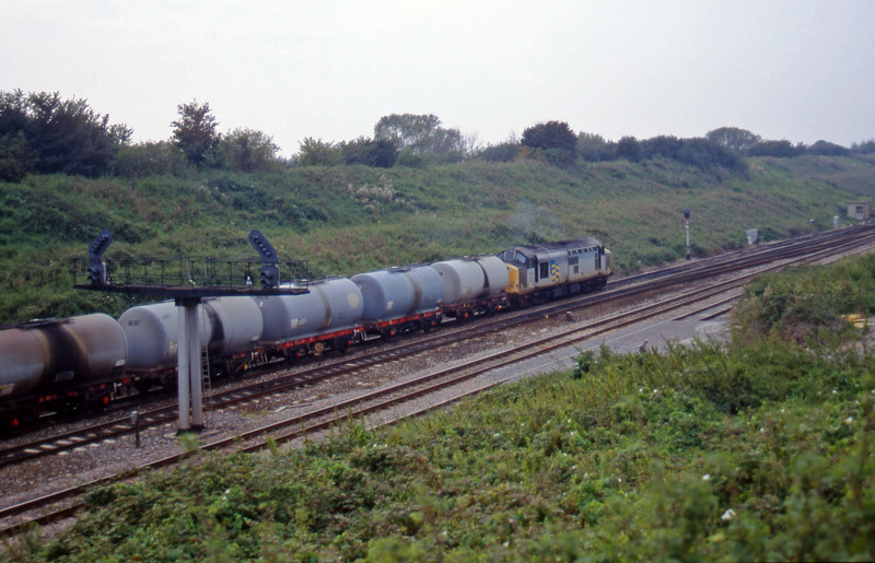 37719, 10.34 Fawley-Margam, departs Pilning loop, 18-9-97.