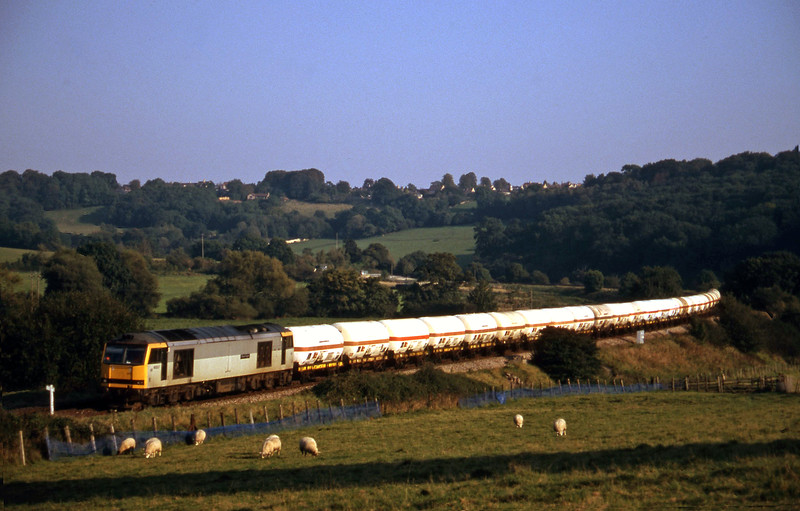 60013, 13.20 Furzebrook-Hallen Marsh, Freshford, near Bath, 22-9-97.