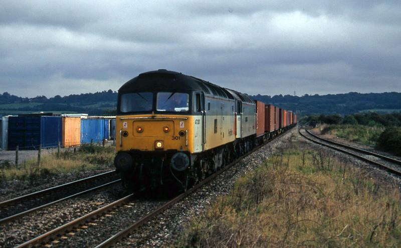 47301/47376, Southampton-Cardiff Pengam, Pilning, 30-9-97.