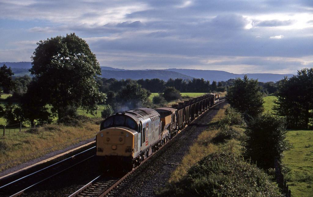 37898, 16.35 Exeter Riverside Yard-Newport Alexandra Dock Junction, Cogload, 8-9-97.