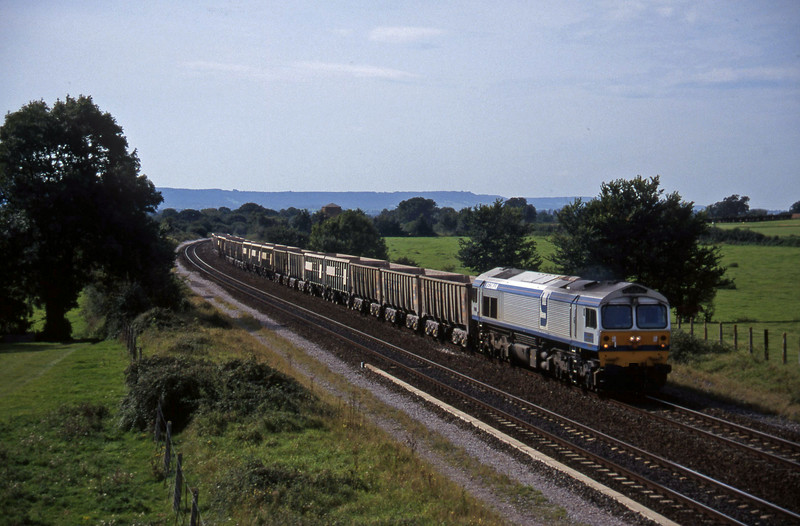 59001, Exeter Riverside Yard-Westbury Yard, Cogload, 16-9-97.