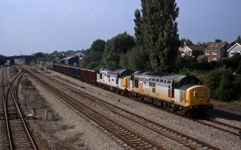 37696/37670, 13.50 Newport Alexandra Dock Junction-St Blazey, Magor, 18-9-97.