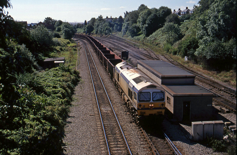 59004, 11.04 Port Talbot-Llanwern, Gaer Junction, Newport, 9-9-97.