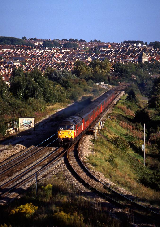 47767, 15.09 Plymouth-Low Fell, Narroways Hill, Bristol, 9-9-97.