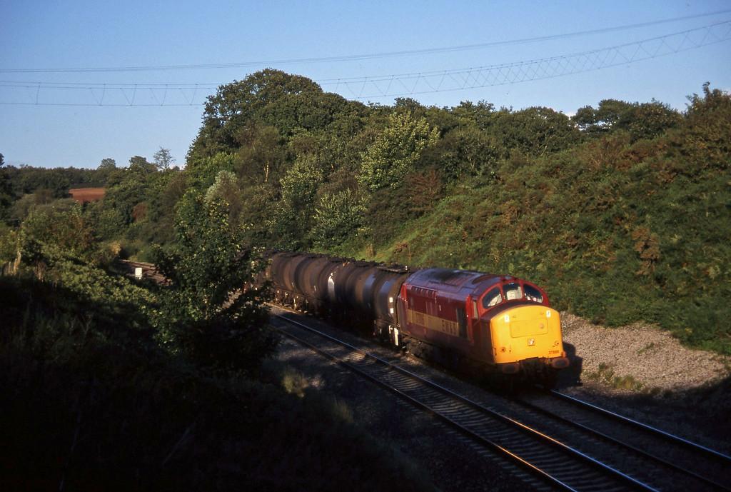 37886, 13.34 Fawley-Plymouth Tavistock Junction Yard, Whiteball, 5-9-97.