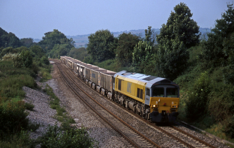 59102, Exeter Riverside Yard-Westbury, Whiteball, 20-9-97.