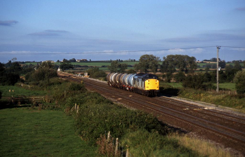 37714, 17.03 Westbury-Plymouth Tavistock Junction Yard, Cogload, 8-9-97.