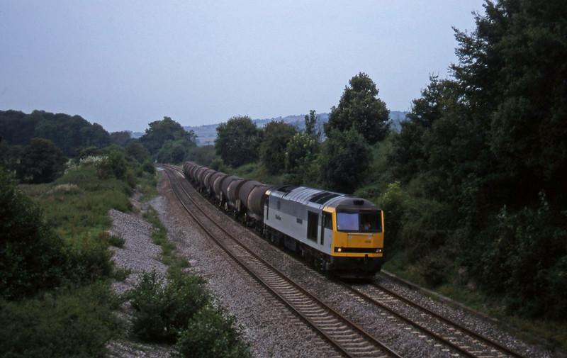 60009, 09.40 Burngullow-Newport Alexandra Dock Junction, Whiteball, 20-9-97.