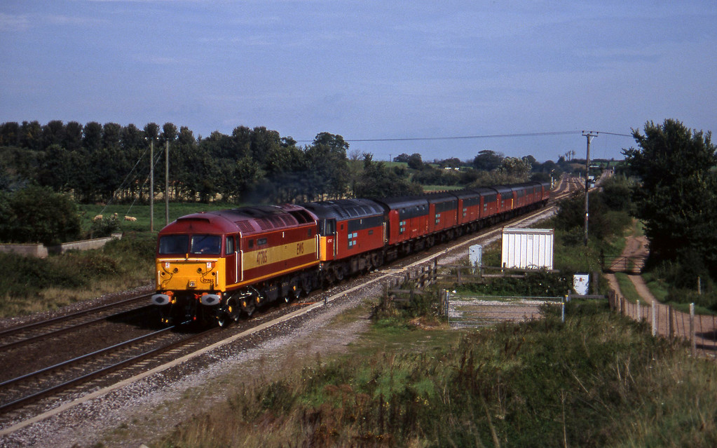 47785/47747, 12.15 Bristol Temple Meads-Plymouth, Cogload, 16-9-97.