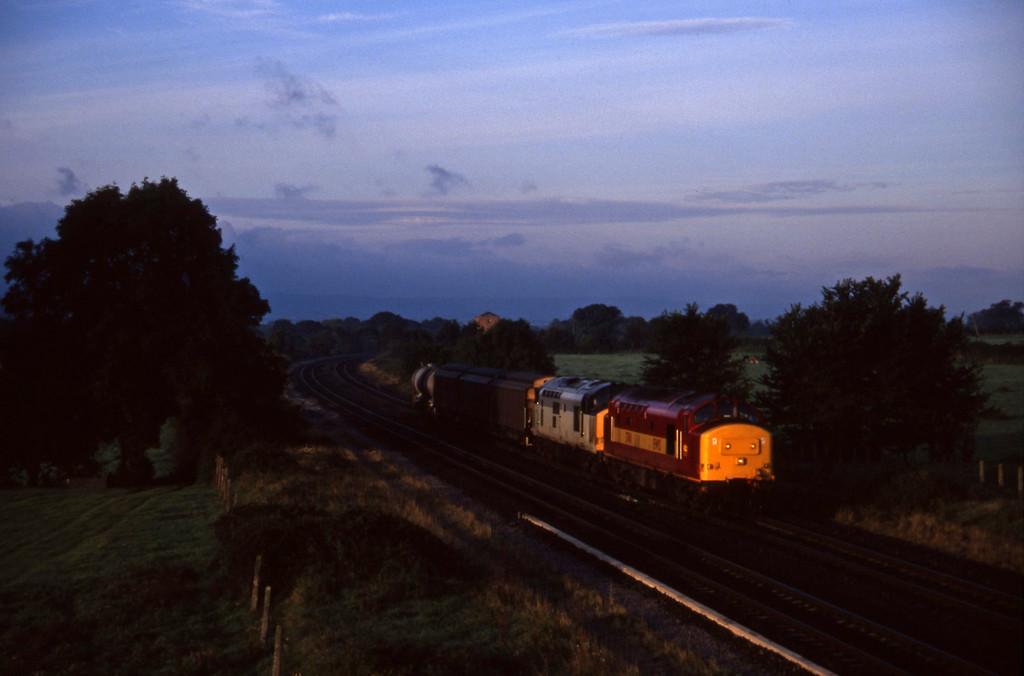 37411/37689, 04.56 St Blazey-Newport Alexandra Dock Junction, Cogload, 16-9-97.
