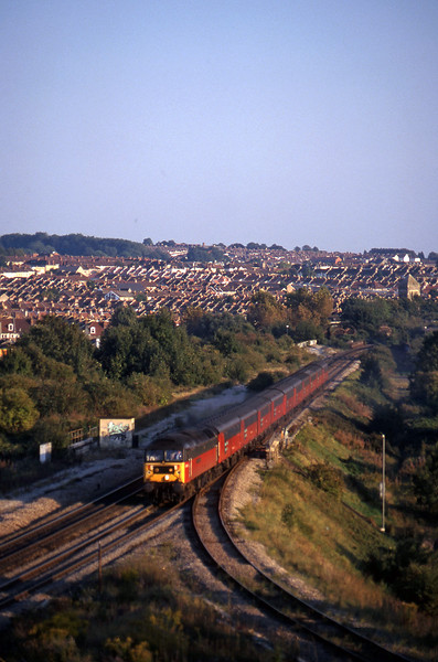 47640, 15.09 Plymouth-Low Fell, Narroways Hill Junction, Bristol, 23-9-97.