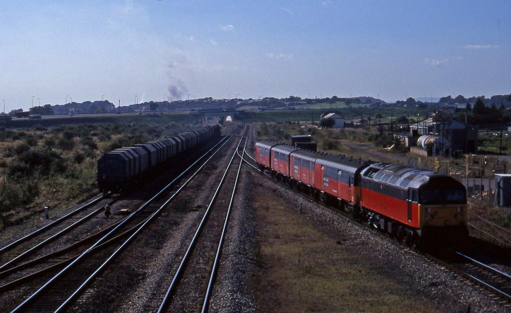 47635, 14.25 Swansea-London, Severn Tunnel Junction, 9-9-97. 60041, 11.05 Round Oak-Margam.