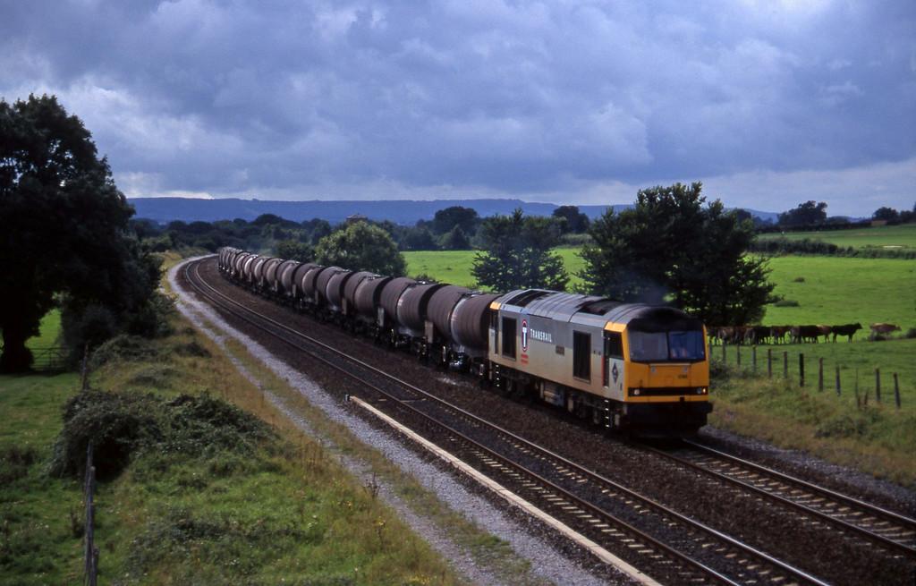 60096, 09.40 Burngullow-Newport Alexandra Dock Junction, Cogload, 2-9-97.