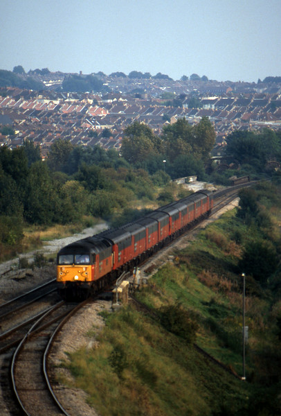 47750, 15.09 Plymouth-Low Fell, Narroways Hill Junction, Bristol, 18-9-97.