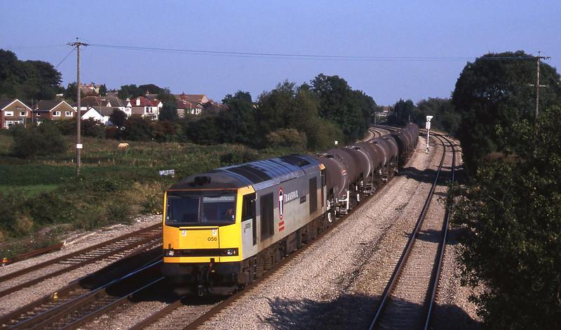 60056, 09.40 Burngullow-Newport Alexandra Dock Junction Yard, Magor, 23-9-97.