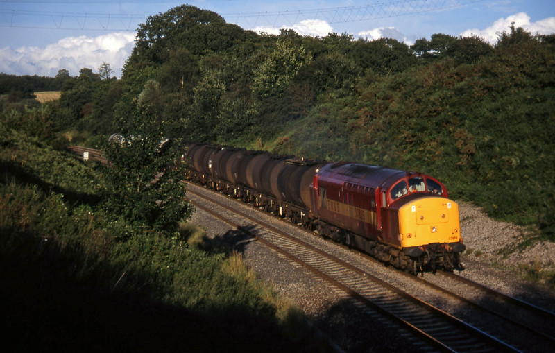 37886, 17.03 Westbury Yard-Plymouth Tavistock Junction Yard, Whiteball, 1-9-97.