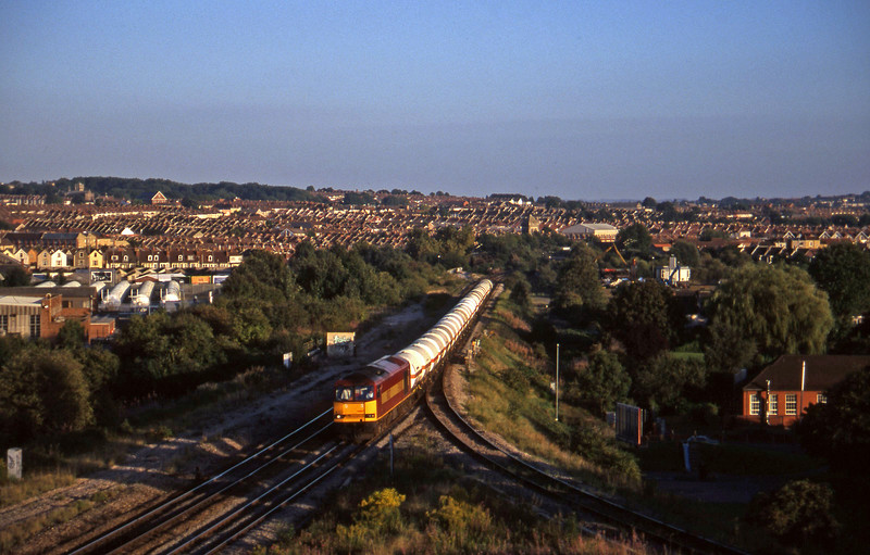 60027, 13.20 Furzebrook-Hallen Marsh, Narroways Hill Junction, Bristol, 9-9-97.