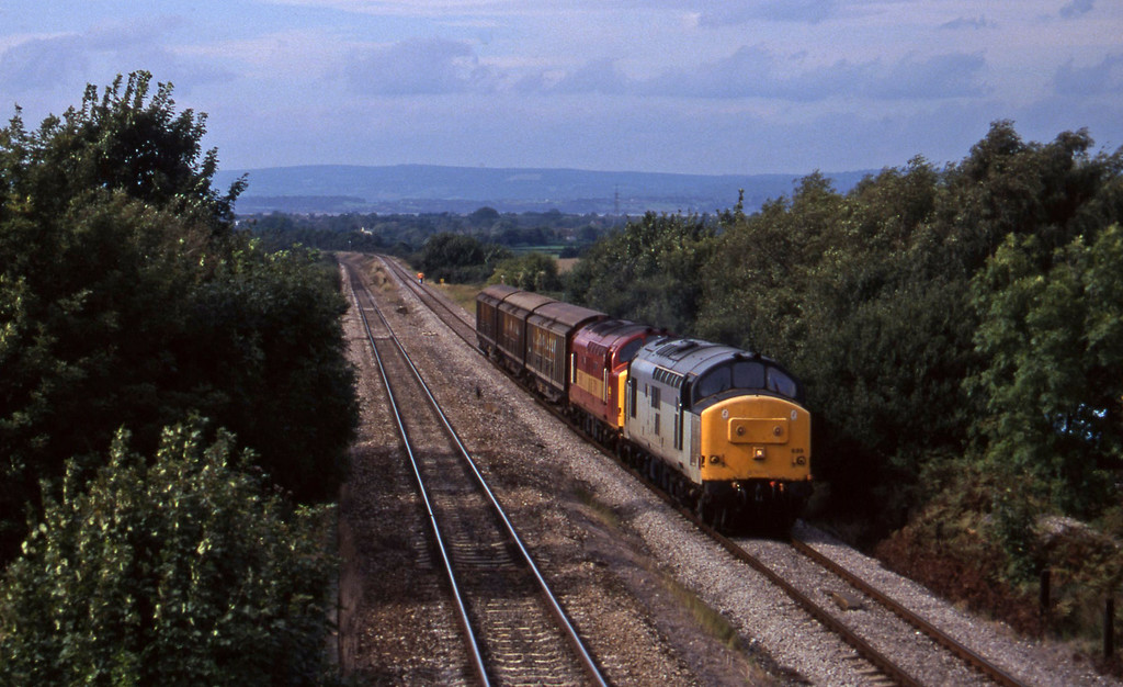 37689/37411, 13.50 Newport Alexandra Dock Junction-St Blazey, Cattybrook, Bristol, 16-9-97.