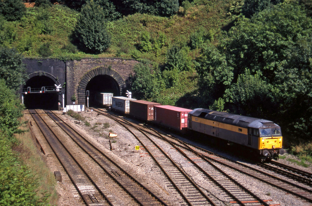 47332, Southampton-Cardiff Pengam, Gaer Junction, Newport, 9-9-97.