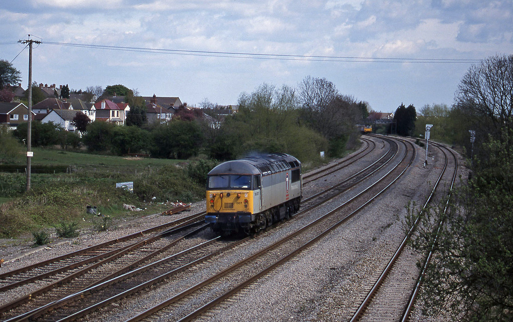 56007, up light to Avonmouth, Magor, 17-4-98.