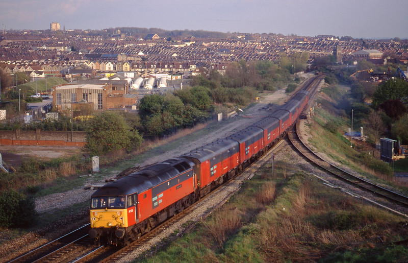 47733, 15.09 Plymouth-Low Fell, Narroways Hill Junction, Bristol, 7-4-98.