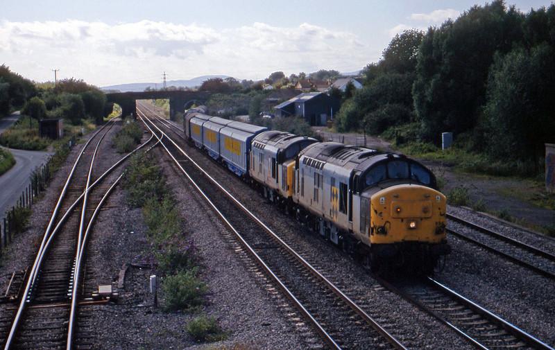 37894/37701, 16.45 Newport Alexandra Dock Junction Yard-Wembley, Magor, 4-8-98.