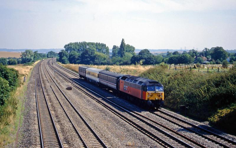 47763, down test train, South Moreton, near Didcot, 11-8-18.