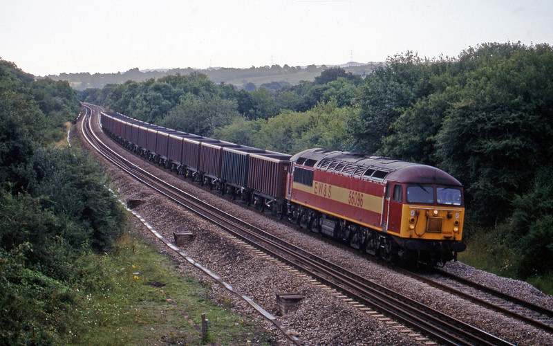 56096, 07.08 Didcot Yard-Avonmouth Bennett's Siding, Coalpit Heath, near Bristol, 4-8-98.