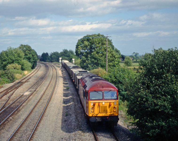 56119, 12.30 Westbury Yard-Newport Alexandra Dock Junction Yard, Magor, 4-8-98.