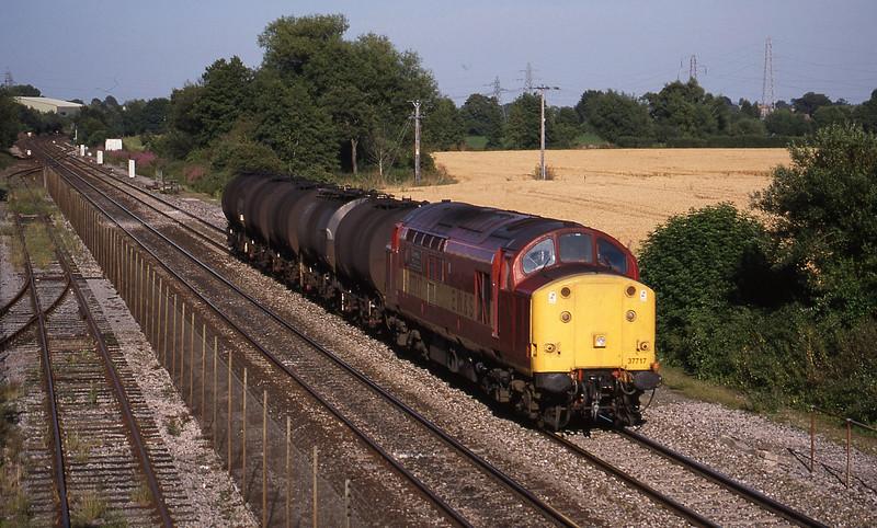 37717, 13.34 Fawley-Plymouth Tavistock Junction Yard, Norton Fitzwarren, near Taunton, 7-8-98.