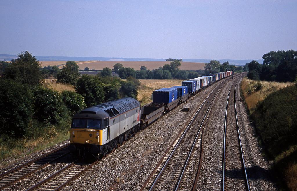 47349, 12.25 Southampton-Leeds, South Moreton, near Didcot, 11-8-18.