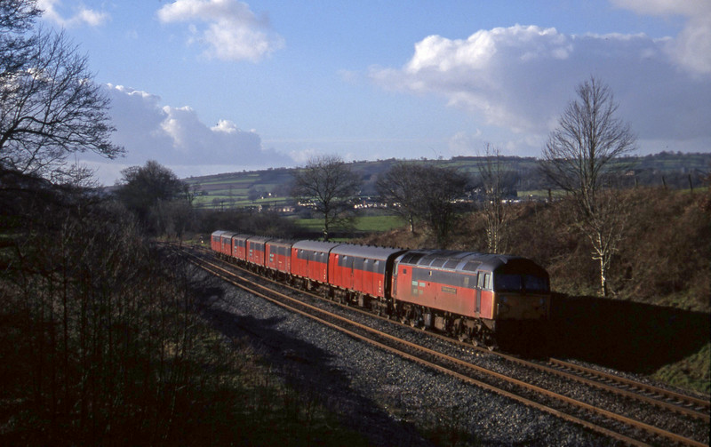 47742, 12.44 Plymouth-Glasgow, Whiteball, 14-1-98.