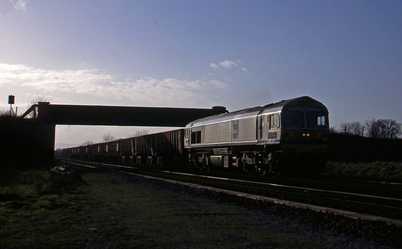 59005, 12.17 Exeter Riverside Yard-Whatley Quarry, Cogload, 13-1-98.