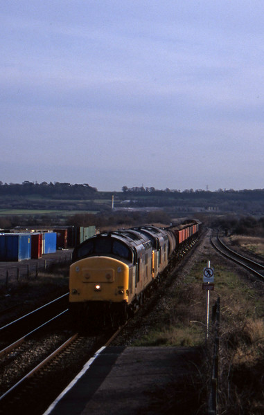 37696/37673, 04.25 St Blazey-Newport Alexandra Dock Junction, Pilning, 20-1-98.