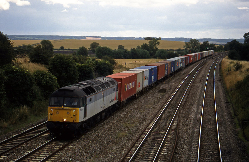 47371, 12.25 Southampton-Leeds, South Moreton, near Didcot, 21-7-98.