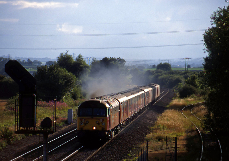 47764, 17.23 Plymouth-Low Fell, Norton Fitzwarren, near Taunton, 27-7-98.