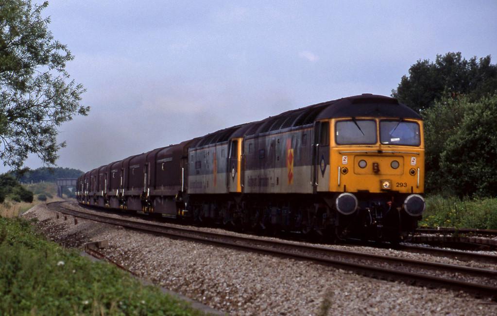 47293/47375, 09.15 Swindon-Longbridge, Shrivenham, 7-7-98.