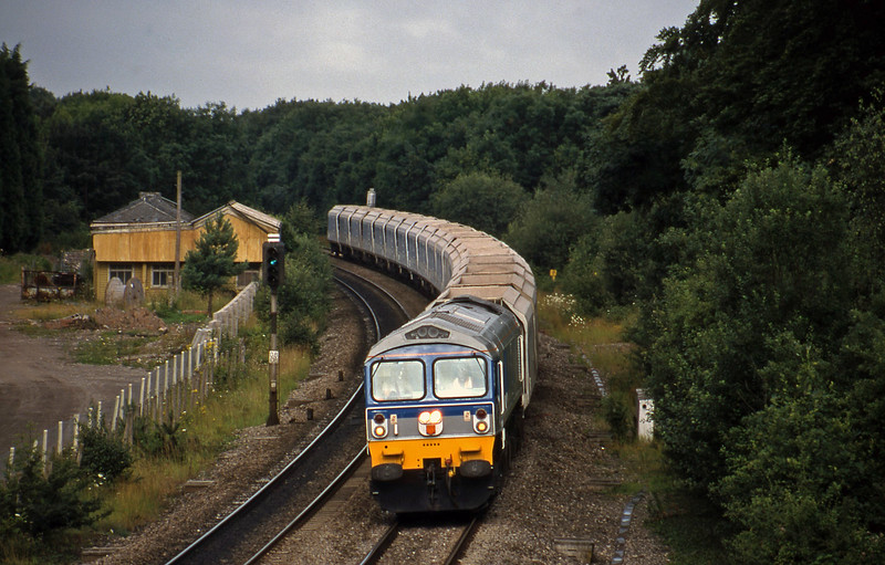 59005, eastbound stone empties, Coalpit Heath, Bristol, 21-7-98.