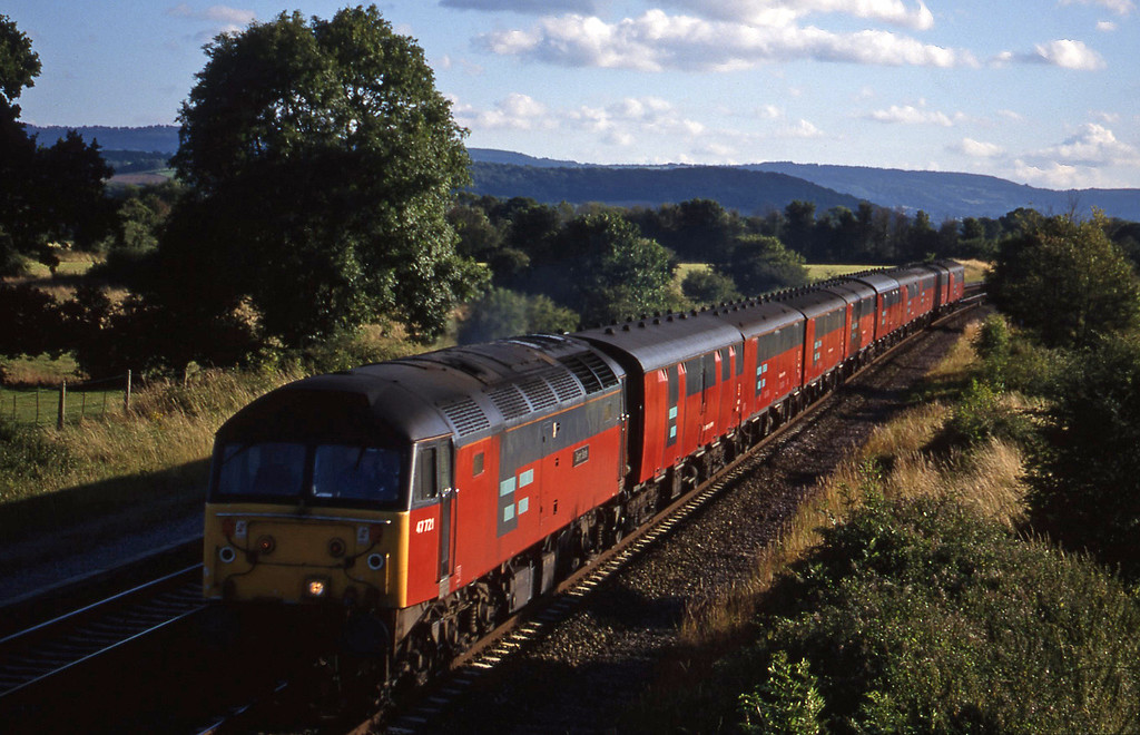 47721, 17.23 Plymouth-Low Fell, Cogload, 23-7-98.