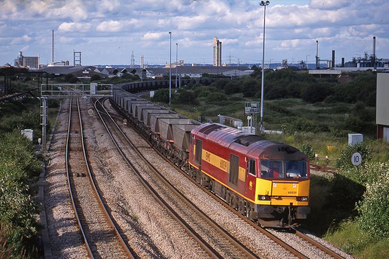 60039, Didcot Power Station-Avonmouth Bulk Handling Terminal, Hallen Marsh Junction, Avonmouth, 11-6-98.